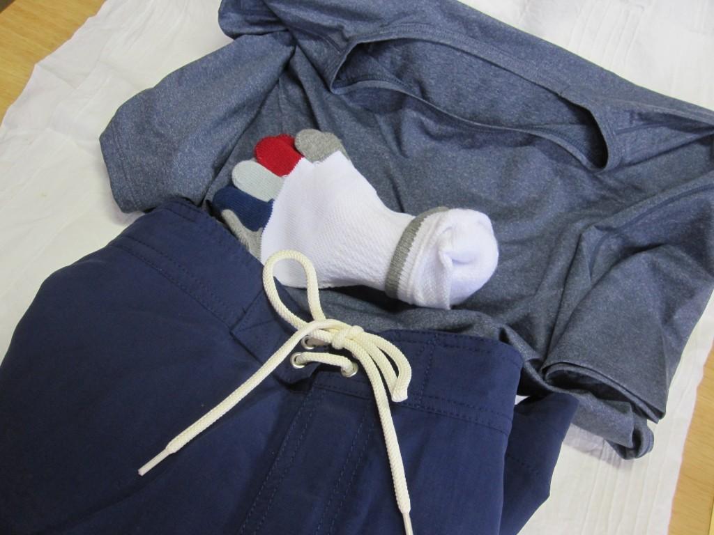 海水パンツ、靴下、エアリズム