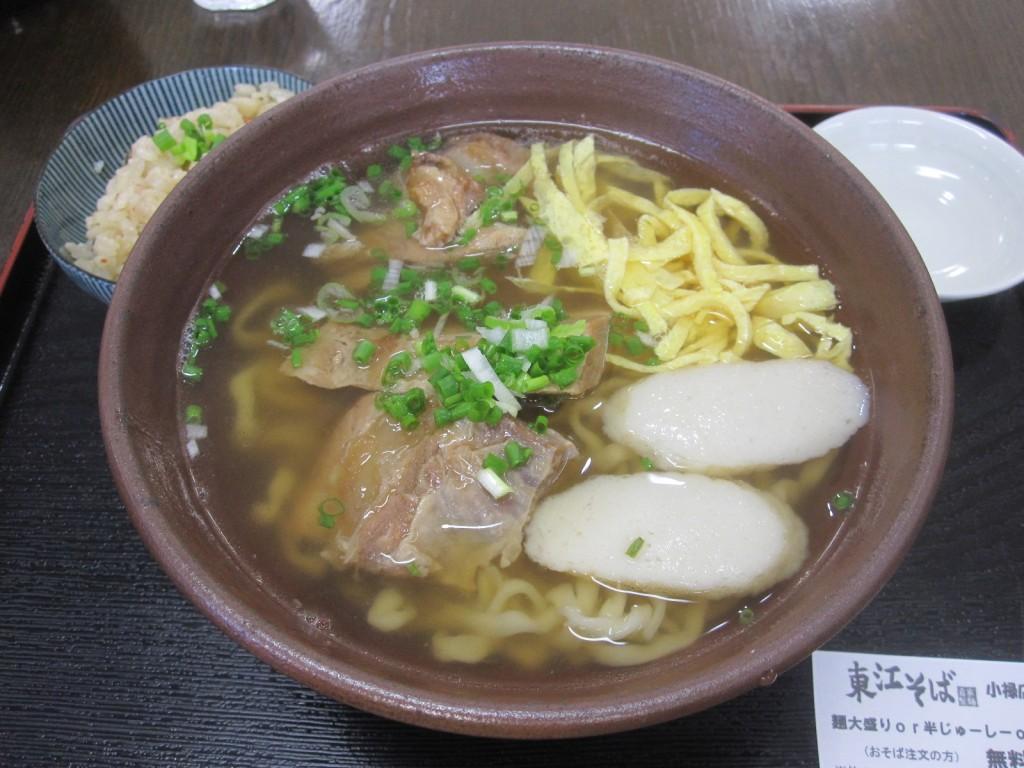 東江そば(中)700円