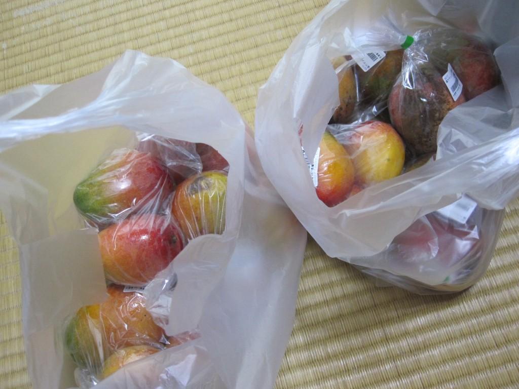 台風接近の前後に購入したフルーツの王様マンゴー