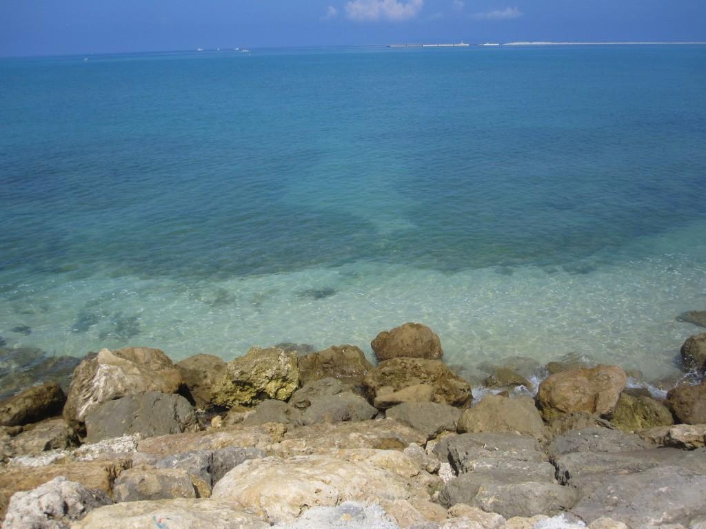 青く透き通った海が目の前にある