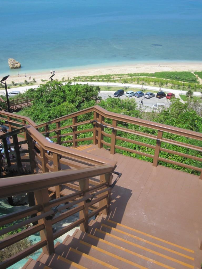階段からも絶景が眺める