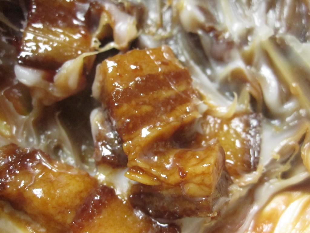 余分な脂肪分を取り除いた豚角煮