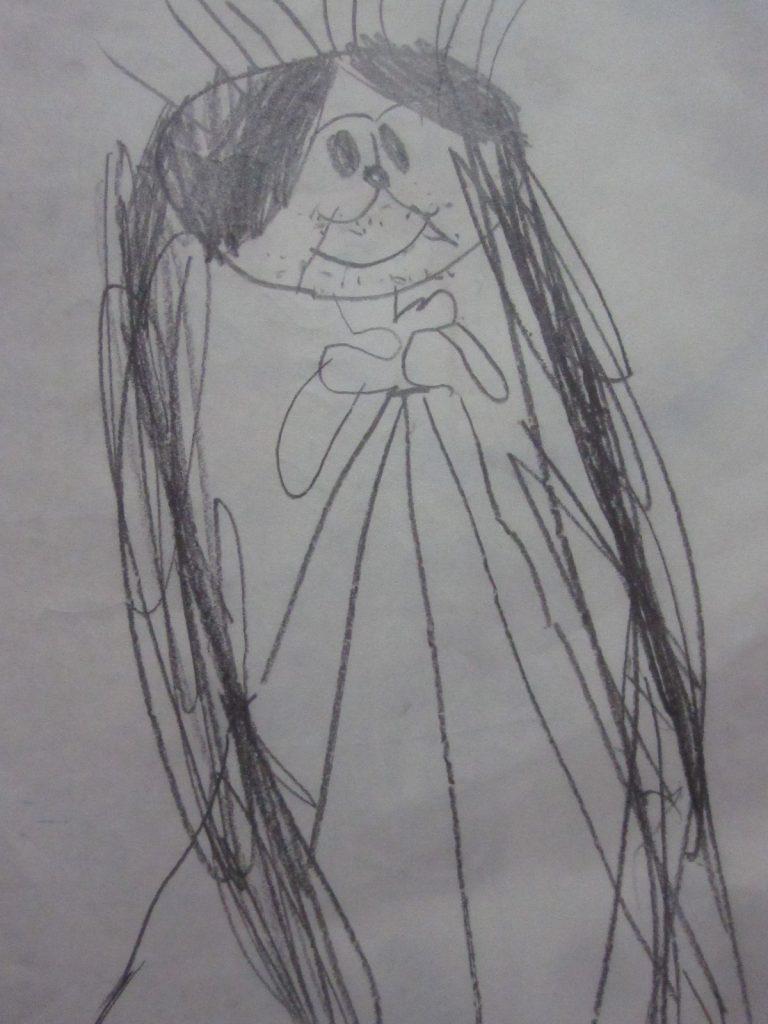 髪の長い女の人の絵