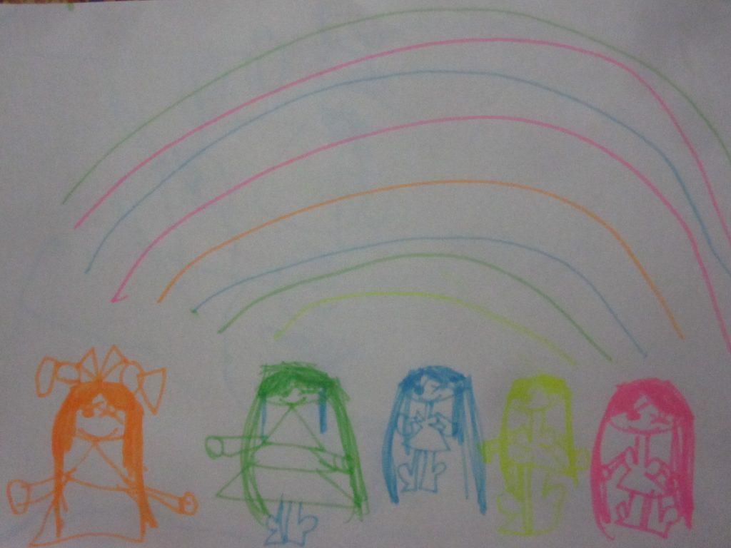 色とりどりな虹と女の子たち