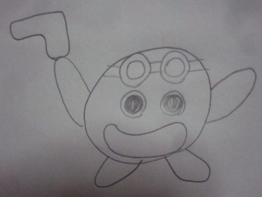 ポケモンGOのニュースを見て描いたと思われるキャラクター