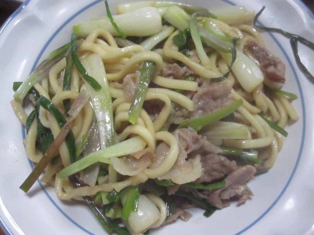 沖縄県産アグー豚肉(島らっきょう)焼きそば完成!