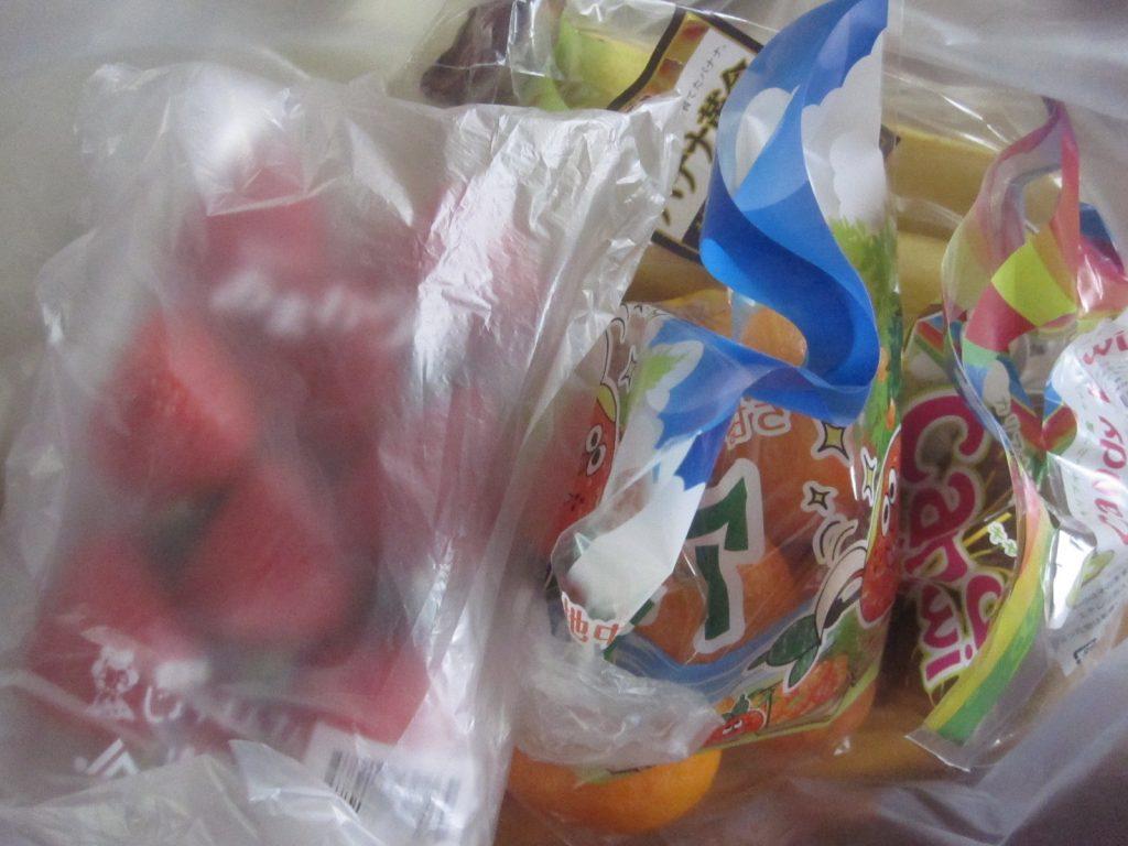 火事の初期消火のお礼に頂いた差し入れのフルーツ果物