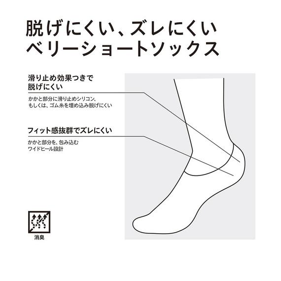 ユニクロの靴下の機能「脱げにくくズレにくい」