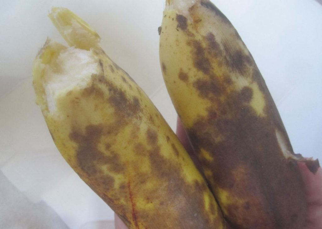 バナナは皮が黒く変色してくる頃が美味しい?
