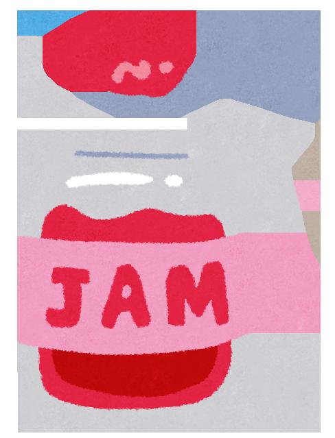 美味しそうな赤い苺ジャムのイラスト