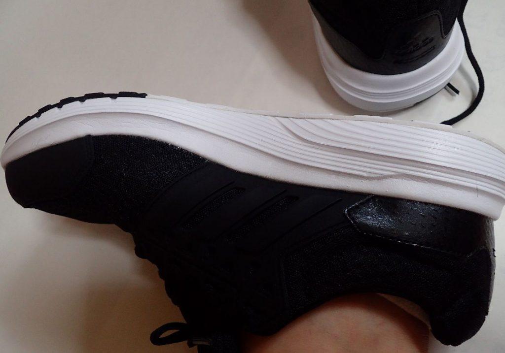 [アディダス] adidas galaxy 3 wide u BLACK(黒)