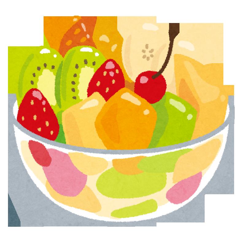 フルーツ盛り合わせのイラスト