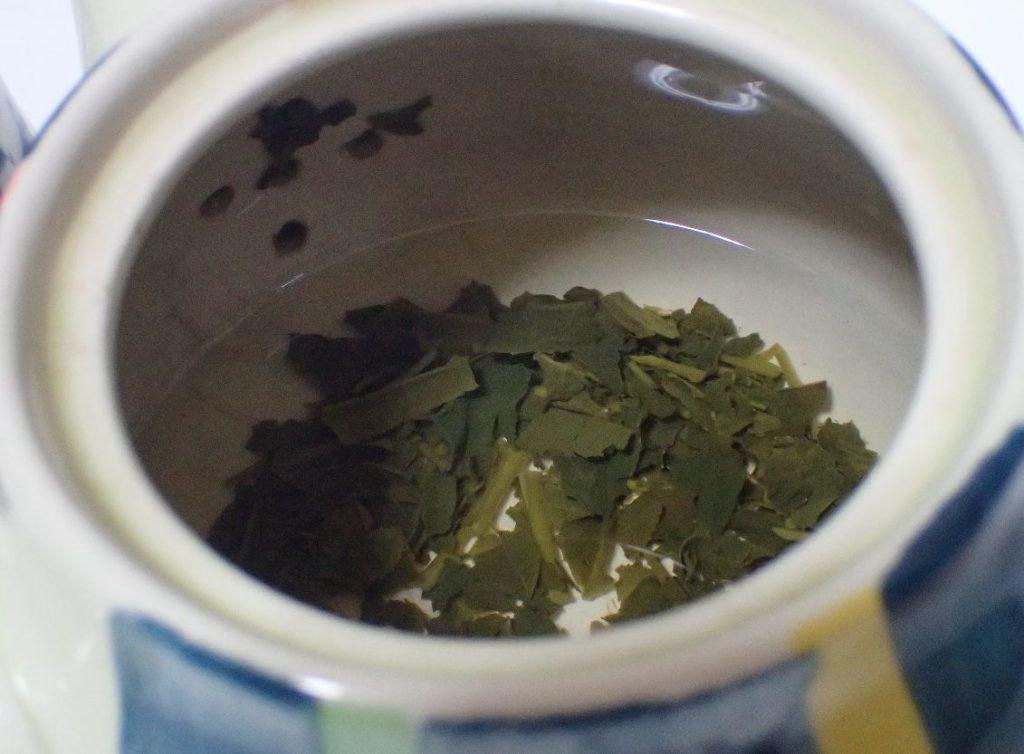 茶こし、お茶パックは使わず急須の網に詰まりながら飲んでいる