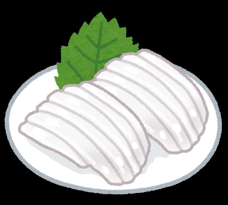 白いイカの刺身