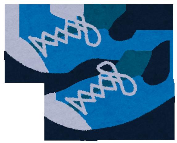 青い靴・スニーカーのイラスト
