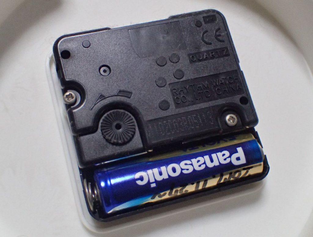 交換した年月日を記入した電池と取り替えた