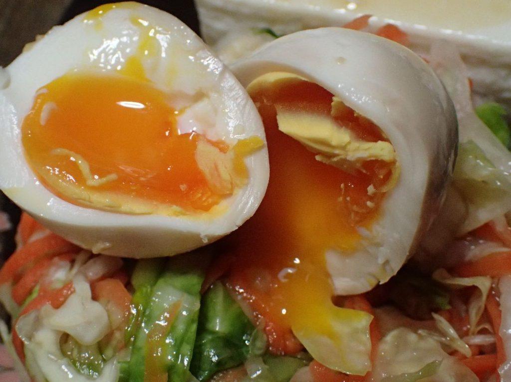 トロトロ半熟の煮卵(めんつゆ風味)が完成!