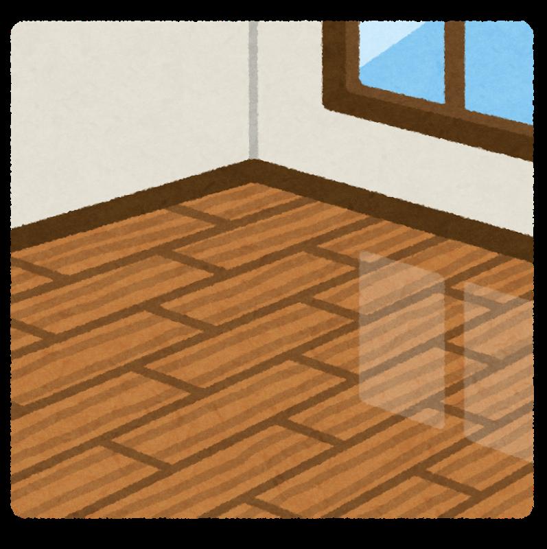 床がフローリングの部屋(いらすとや)