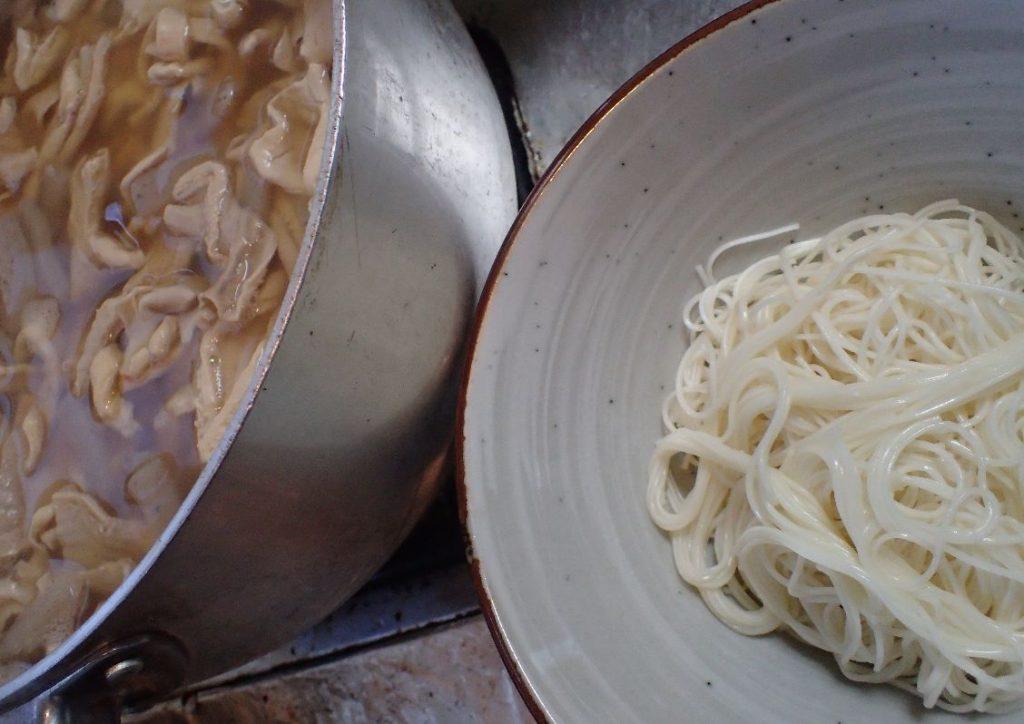 中味汁と手延素麺(ソーメン)の相性は抜群!
