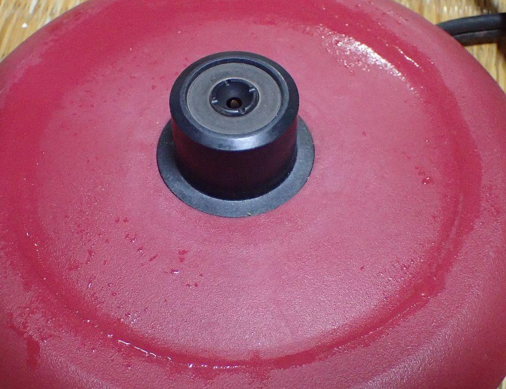沸とう後、電源プレートに水漏れするようになった