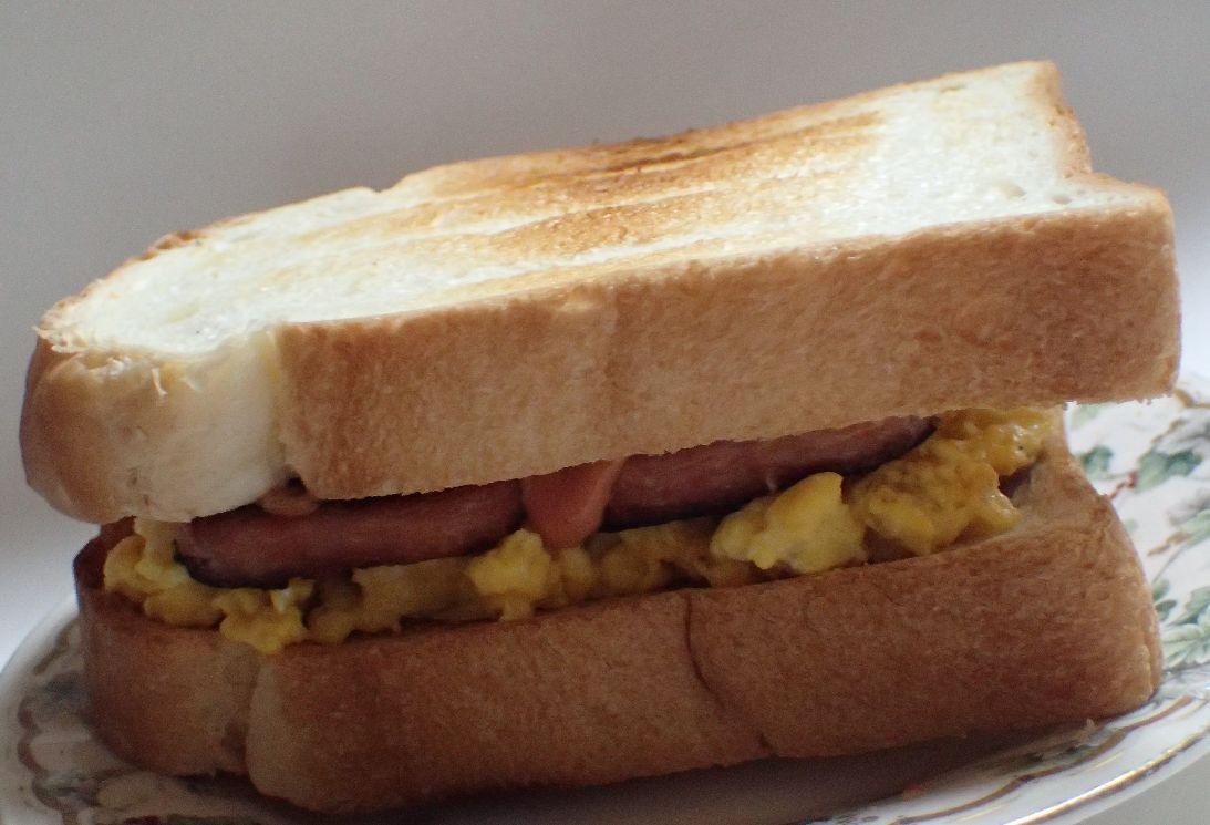 ポーク卵サンドイッチの完成!