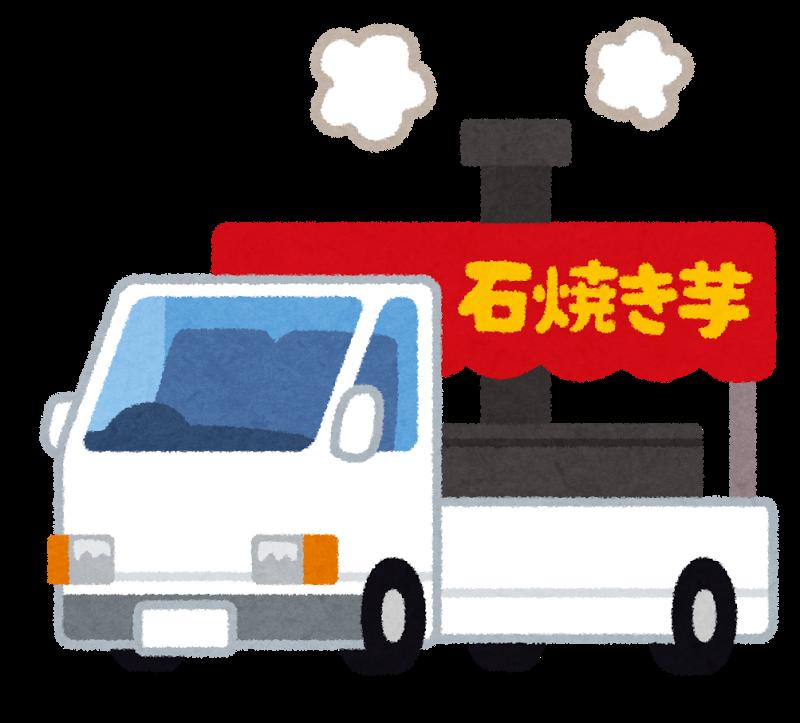 軽トラックの石焼き芋の移動販売(フリー素材いらすとや)