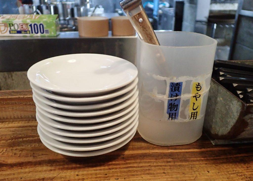 漬物用・もやし専用のトング&取り皿