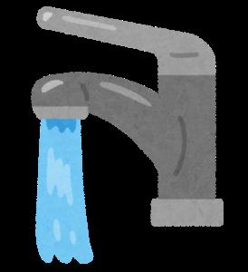 蛇口から水が流れるイラスト