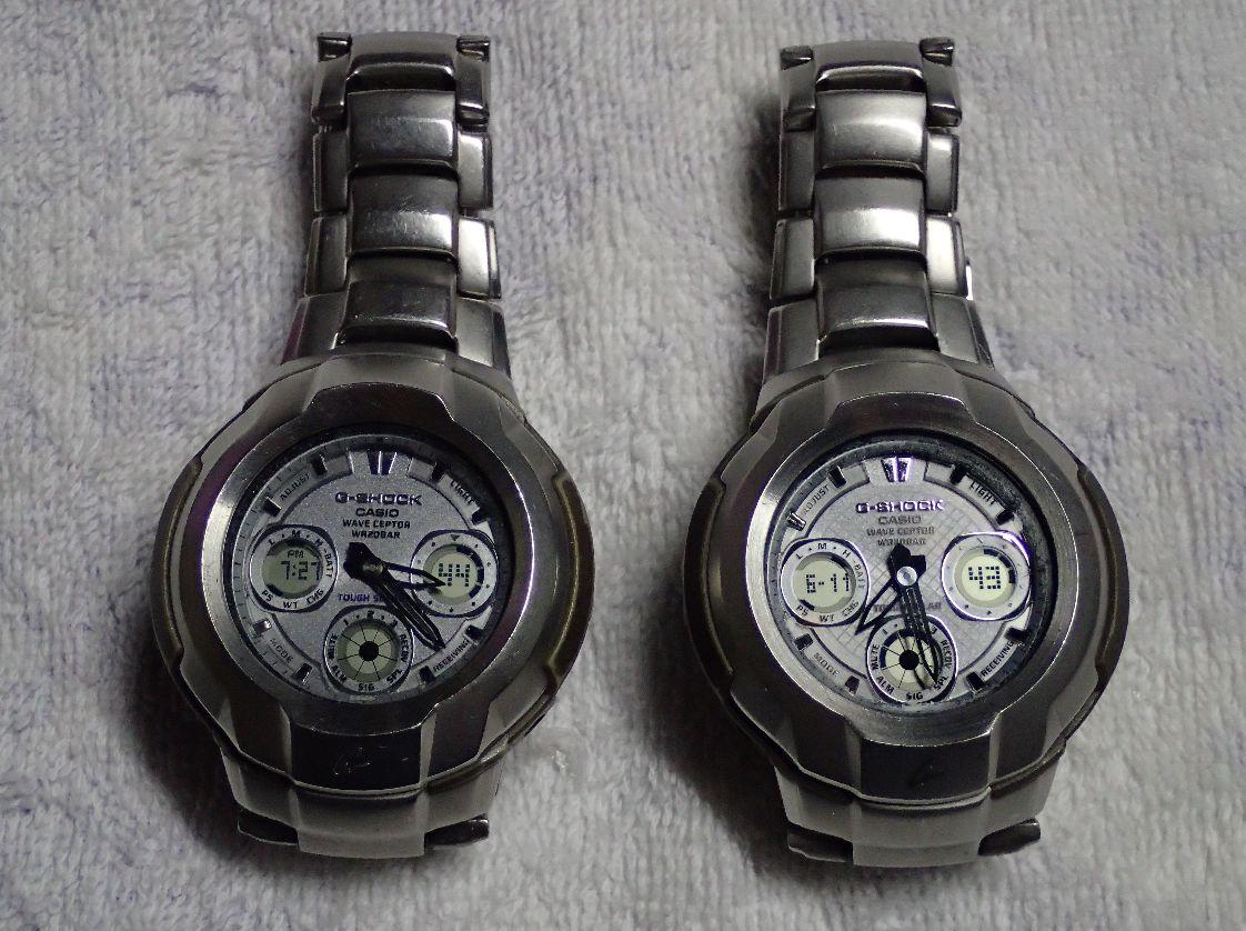 左の時計はヤフオク落札品、右が自分の所持品