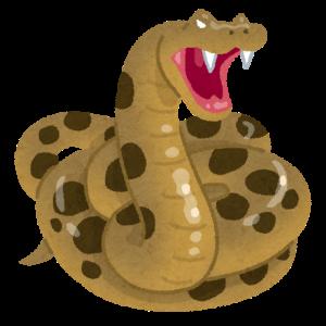 威嚇するヘビ(蛇)のイラスト