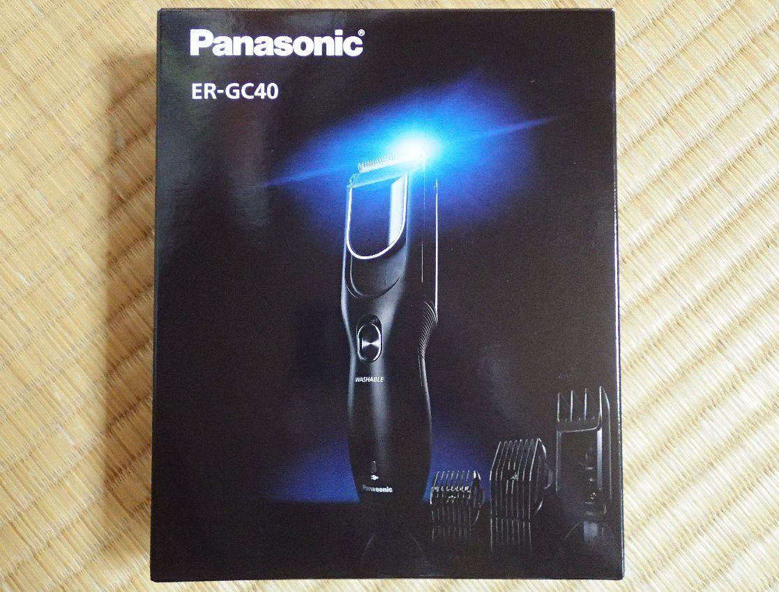 Panasonicの電動バリカン ER-GC40-K