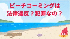 ビーチコーミングは違法?海岸や砂浜に波で打ち上げられる漂着物や植物の種、貝殻を拾う行為は法律違反?犯罪?担当者に電話して聞いてみた(※沖縄県の海岸管理者)